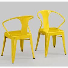 modern tabouret lemon yellow metal stacking dining chairs set of 4