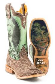 Tin Haul Mens Deuce Take The Money And Run Sole Cowboy Boots