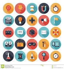 Free Design Games Game Design Flat Icons Set Stock Vector Illustration Of