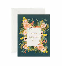 Mothers Greeting Card Bouquet Mothers Day Greeting Card By Rifle Paper Co Made In Usa
