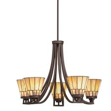 living luxury mission style chandelier