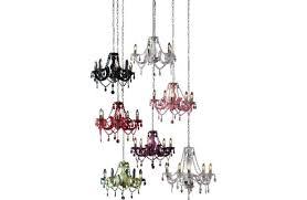 inspire chandelier 5 light ceiling fitting blackcurrant