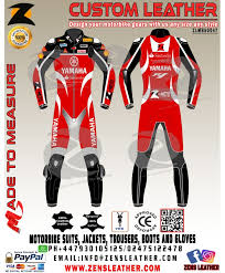 Yamaha Motorbike Leather Suit Gpmoto Racing Leather Suit