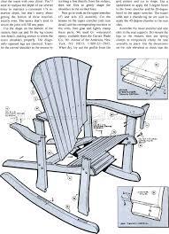 secrets adirondack chairs blueprints rocking chair plans woodarchivist