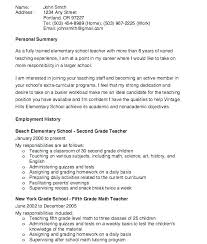Objective For Resumes Impressive Elementary Teacher Resume Objective Elementary School Teacher Resume