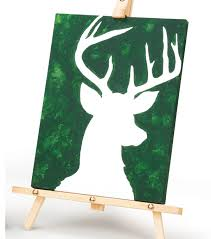 painted deer on canvas