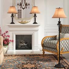 living room lamp sets 3 piece table and floor lamp set