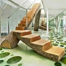 wooden furniture ideas. Rustic Wooden Stairs Furniture Ideas A