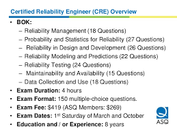 certified quality technician cqt overview 20 certified reliability engineer