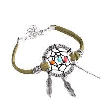 Dream Catcher Gold Bracelet Inspiring Idea Dreamcatcher Bracelet Charm Bracelets 100PC Fashion 95
