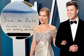 Scarlett Johansson and Colin Jost ...