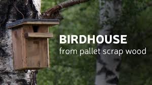 Diy Birdhouse Diy Birdhouse From Pallet Scrap Wood Youtube