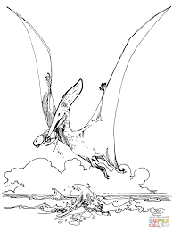 Pteranodon Pterosaur Super Coloring