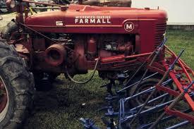 farmall ms and super ms 4 row cultivators on a farmall m at a tractor show in portland na