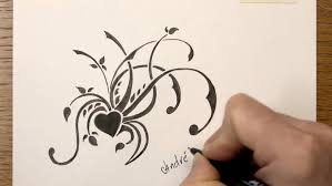 Small Picture How to draw a simple Floral Tribal Design with Markers Time