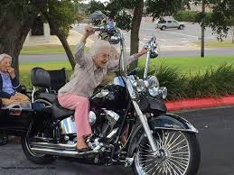 Never too old to ride! - More at Choppertown.com | Motorcycle humor, Harley  bikes, Harley