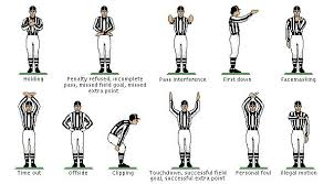 High School Football Referee Signals Chart Video Ever Wonder What Referees Are Really Signalling