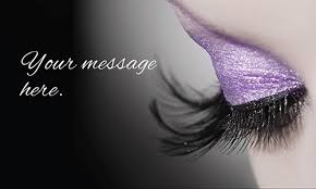 cosmetology make up artist business card design 601111