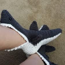 Crochet Shark Slippers Pattern Free New Crochet Shark Bite Shark Attack Slipper From GingerBreadSurprise