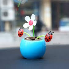 dancer toy solar powered flower bobble head toy swinging animated car decoration