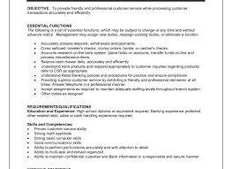 Teller Job Description Bank Teller Job Description Find Your Sample Resume 13