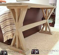 10 DIY Furniture Projects for Beginners Diy sofa table Furniture