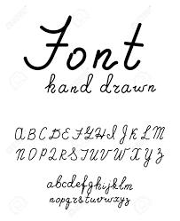 Hand Drawn Fonts Handwritten Alphabet Style Modern Calligraphy