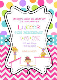 Plain Free Gymnastics Party Invitations As Awesome Article