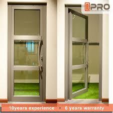 Double Swing Doors Double Glazed Aluminium Glass Hinged Door Design Garden Swing