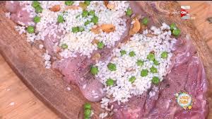 دجاج محشي أرز وبسلة على طريقة الشيف علاءالشربيني Facebook