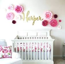 baby girl nursery stickers wall arts art for room custom name sticker decor ideas floral cute pink cool on wall picture arts with baby nursery baby girl nursery stickers wall arts art for room