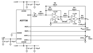 transducer sensor excitation and measurement techniques analog eliminating self heating effects in rtd temperature measurement applications using ac excitation and the ad7730 adc