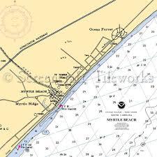 Lake Pleasant Az Depth Chart South Carolina Myrtle Beach Nautical Chart Decor