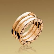 bvlgari b zero1 3 band ring in 18k pink gold
