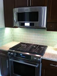 Subway Tile Kitchen Backsplash With Dark Cabinets Home Design Ideas