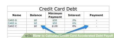 How To Calculate Credit Card Accelerated Debt Payoff 8 Steps