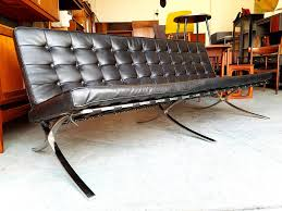 Barcelona Chair Style Contemporary Mies Van Der Rohes Barcelona Chair Style Black