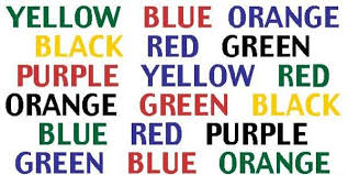 Look At The Chart And Say The Colour Not The Word This Is