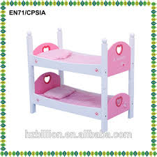Latest 18 Inch Wooden Baby Doll Furniture Doll Bunk Bed With