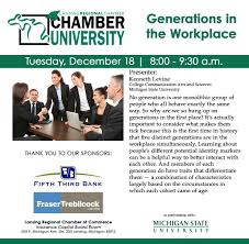 Five Generations In The Workplace Chart