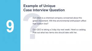 Interview Question Examples Consulting Interview Questions