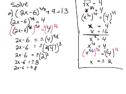 15 solve equations involving rational exponents