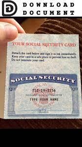 Social Security Card 04