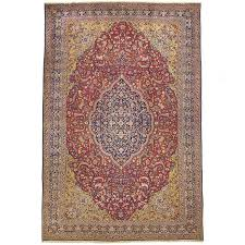 red and yellow large antique tabriz rug for at 1stdibs