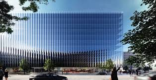 office building design architecture. Curved Glass Curtains Will Give Washington, D.C., Office Building More Views And Floor Space Design Architecture