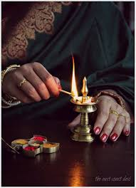 Small Picture Vermilion Kum kum containers and brass diyas Indian Festive