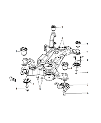 2009 chrysler town country crossmember front suspension