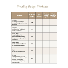 free wedding budget worksheet 22 wedding budget templates free sample example format download