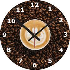 wall clock coffee 25cm clock love