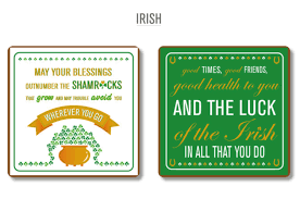 Small Picture Shamrock Gift Company Typographical Coasters The Dots